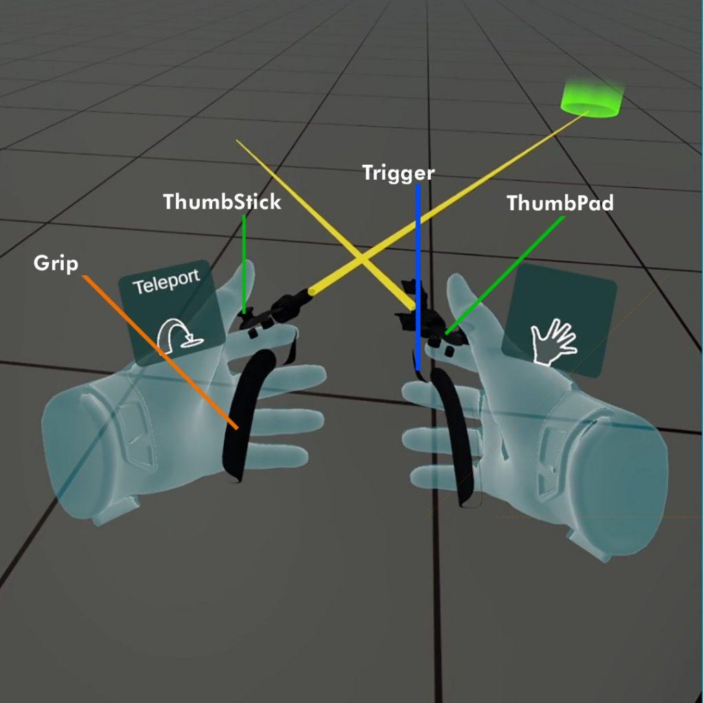 Valve Index controllers in VR